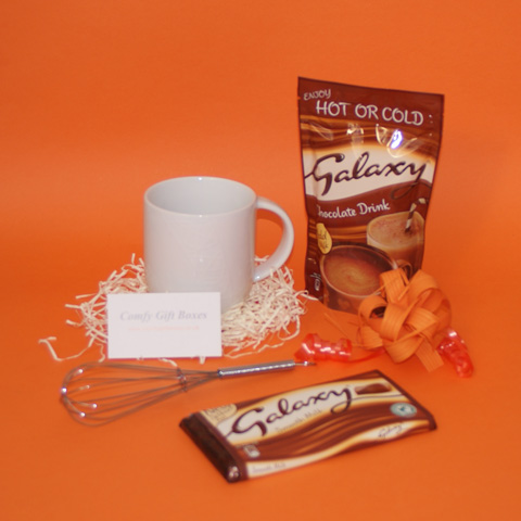 Small Galaxy chocolate thank you gifts, Galaxy hot chocolate presents to say thanks