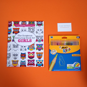 Colouring gifts for girls, get well colouring gifts for girls, childrens get well soon gifts UK, get well soon colouring presents ideas for girls