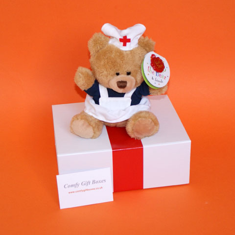 Small get well soon teddy bear gift ideas for friends UK delivery, mini get well gifts for children in hospital, hospital get well nurse gifts, small pamper feel better gifts for friends