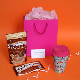 Galaxy hot chocolate Gift for girls, pink chocolate gifts for her, gift ideas for young girls