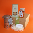Tea and biscuits gift hamper, house warming gift ideas, gift hampers UK, traditional gift hampers UK delivery