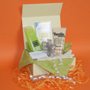 Body scrub pamper gifts UK, white chocolate pamper gifts delivered