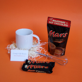 Small chocolate gifts, Mars hot chocolate thank you gifts, small hot chocolate presents, Mars bar thank you presents, mini thank you presents for friends, Mars chocolate thank you gift ideas