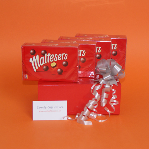 Small chocolate gifts delivered, mini Maltesers gifts, Maltesers chocolate gift box UK, small Maltesers presents delivered, Maltesers pamper gift selections, chocolate thank you gifts UK delivery