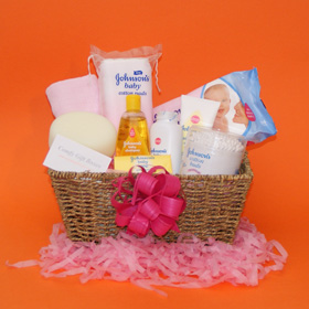 New baby gift baskets UK, new baby girl gift basket, gift baskets for new babies delivered, new baby congratulations gifts, gift ideas for new baby baskets, Johnsons® baby gift baskets