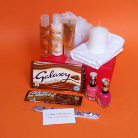 Galaxy night in pamper gift box, ideal pampering presents for girlfriends, pamper hampers for her