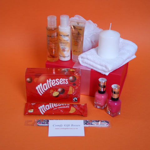 Maltesers girlfriends night in pamper gift boxes, pamper gifts for women