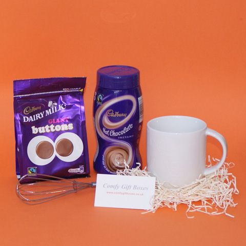 Cadbury chocolate thank you gifts, Cadbury hot chocolate thank you gifts, small hot chocolate presents, Cadbury Dairy Milk chocolate thank you presents, mini thank you presents for friends, ideas for thank you gifts