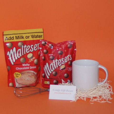 Maltesers hot chocolate thank you gifts, small Maltesers gift ideas to thank staff
