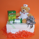 Teddy bear get well soon gifts, green tea get well presents, get well gifts for women, nurse get well soon gift ideas