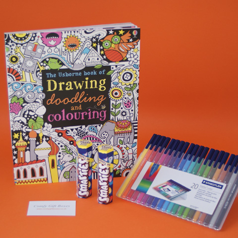 Therapeutic colouring gift set, mindfulness get well presents for young adults, get well gifts to pass the time in hospital, fun get well soon gift ideas for teenagers UK delivery